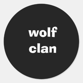 wolf clan classic round sticker