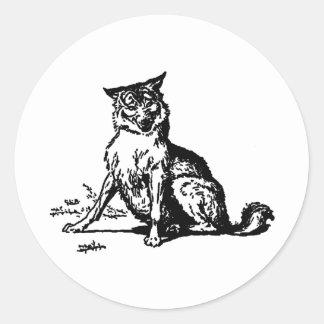 wolf classic round sticker