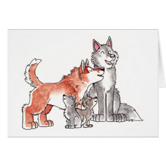 Wolf Family Greeting Card