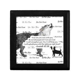 Wolf Howling Chihuahua Do Not Fear #5 FaithTrust B Gift Box