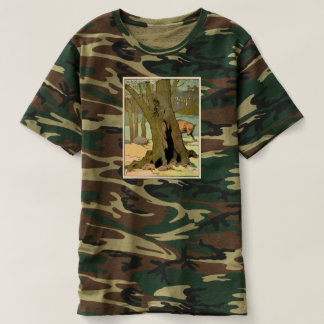 Wolf Hunting a Rabbit in the Forest Illustrated T-Shirt