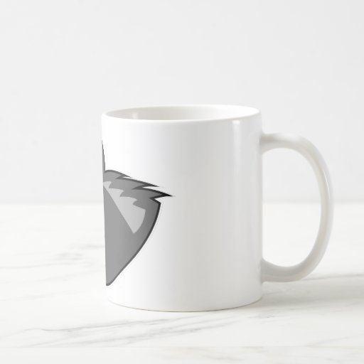 Wolf in Sleek Gray Mugs