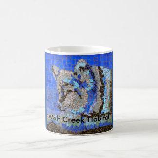 Wolf Mosaic for Wolf Creek Habitat Basic White Mug