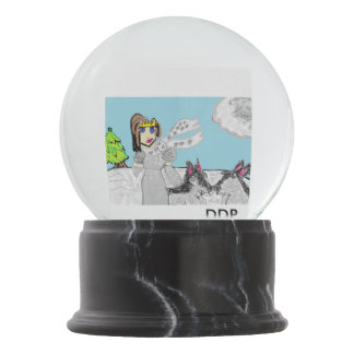 Wolf  princess snow globes