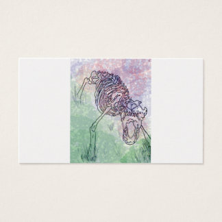 Wolf skeleton watercolour purple/green business card