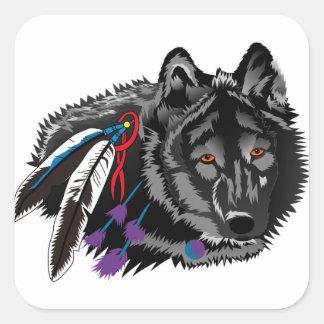 Wolf Square Sticker