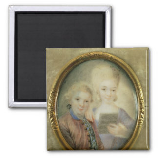 Wolfgang Amadeus Mozart  and his sister Magnet