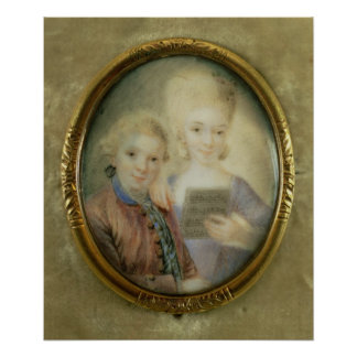 Wolfgang Amadeus Mozart  and his sister Posters
