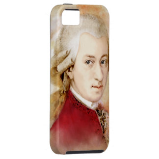 Wolfgang Amadeus Mozart in the water color style iPhone 5 Covers
