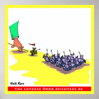 Wolfi Korn Billiard Cartoon Poster