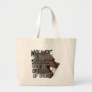 Wolves Opinion Large Tote Bag