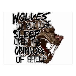Wolves Opinion Postcard