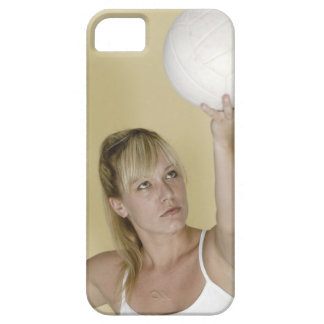 Woman about to serve volleyball iPhone 5 cases