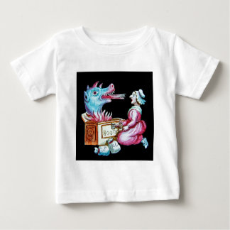 Woman and Fire Breathing Dragon Vintage Baby T-Shirt