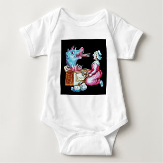 Woman and Fire Breathing Dragon Vintage Infant Creeper