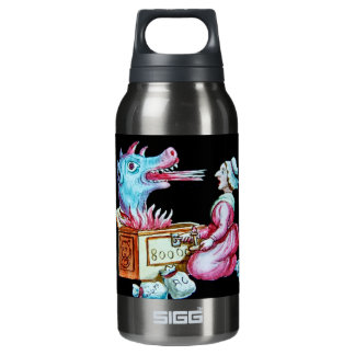 Woman and Fire Breathing Dragon Vintage Insulated Water Bottle