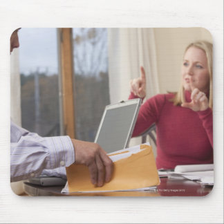 Woman and man signing the word 'Envelope' in Mouse Pad