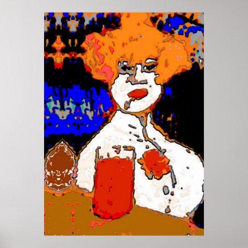 Woman at Bar Posters