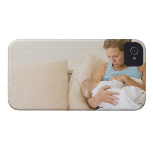 Woman breastfeeding baby Case-Mate iPhone 4 cases