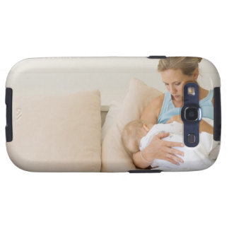 Woman breastfeeding baby galaxy SIII cover