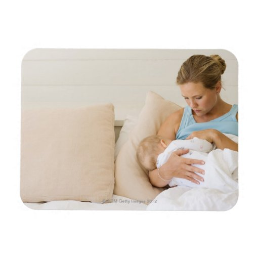 Woman breastfeeding baby flexible magnets