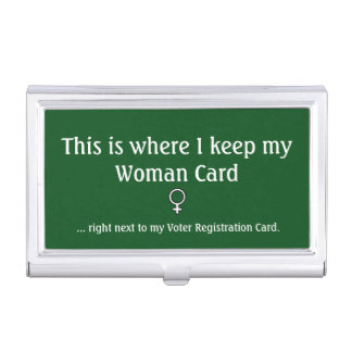 Woman Card, Business Card Holder