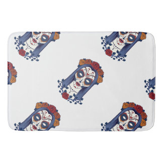 Woman Day of the Dead Bath Mat