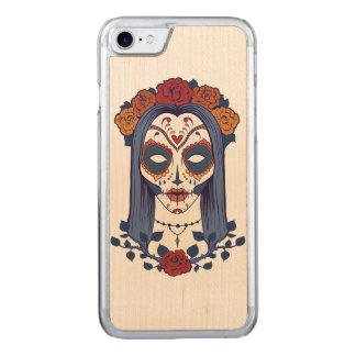 Woman Day of the Dead Carved iPhone 7 Case