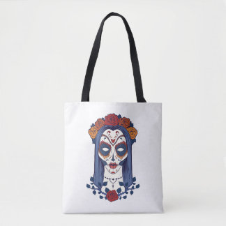 Woman Day of the Dead Tote Bag