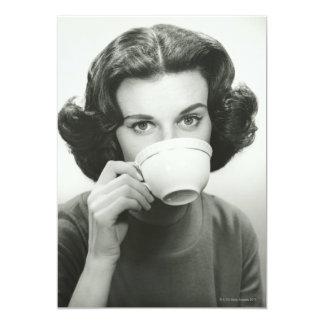 "Woman Drinking 5"" X 7"" Invitation Card"
