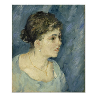 Woman in Blue by Vincent Van Gogh Photo Print