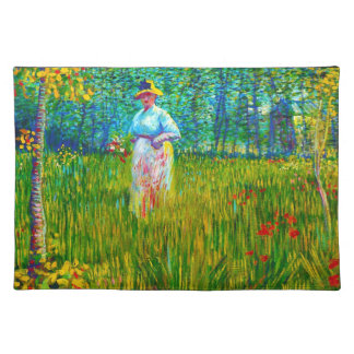Woman in the Garden by Vincent Van Gogh Placemat