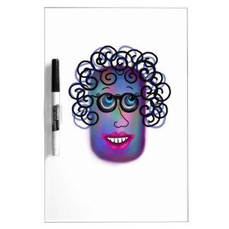 Woman Of Expressions Dry Erase Board