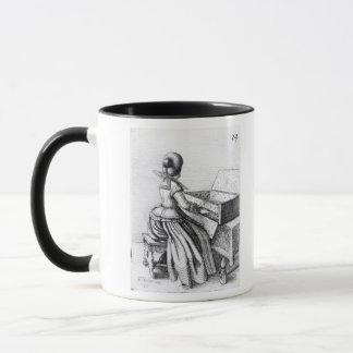 Woman Playing at a Keyboard, 1635 Mug