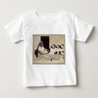 Woman Polishing Pottery - 1879 Baby T-Shirt