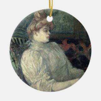 Woman Reading Christmas Ornament
