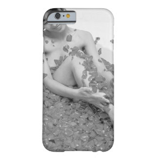 Woman relaxing in hot tub with flower petals, barely there iPhone 6 case