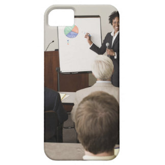 Woman teaching a class to adults iPhone 5 cover