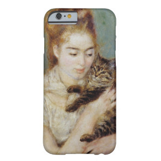 <Woman with a Cat> by Pierre-Auguste Renoir Barely There iPhone 6 Case