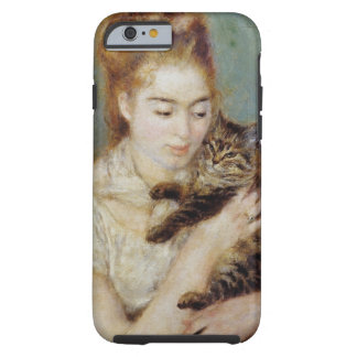 <Woman with a Cat> by Pierre-Auguste Renoir Tough iPhone 6 Case