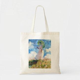 Woman with a Parasol  Claude Monet Tote Bag