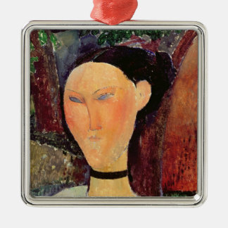Woman with a Velvet Neckband, c.1915 Christmas Ornament