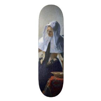 Woman with a Water Jug by Johannes Vermeer Custom Skate Board