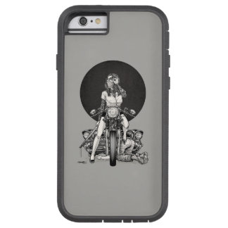 Woman With Motorcycle Tough Xtreme iPhone 6 Case