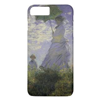 Woman with Parasol by Claude Monet, Vintage Art iPhone 8 Plus/7 Plus Case