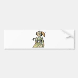 Woman With Umbrella Bumper Sticker