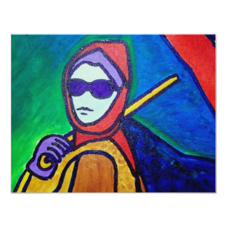 Woman with Umbrella by Piliero Card