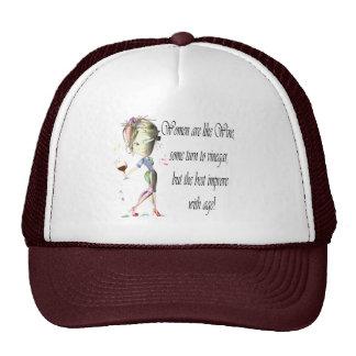 Women are like Wine, Humorous Gifts Hats