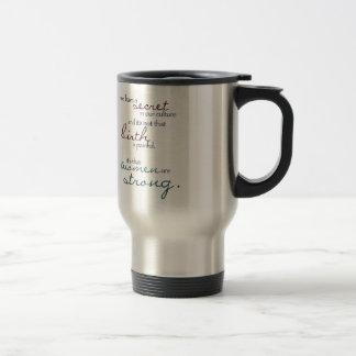 women are strong travel mug