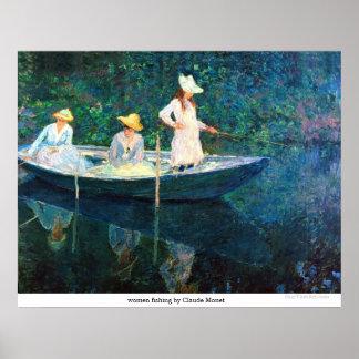 women fishing by Claude Monet Poster
